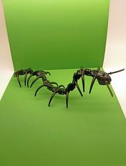 Centipede Green Background (SuperHardcoreDave) Tags: black lego alien fi centipede sci moc