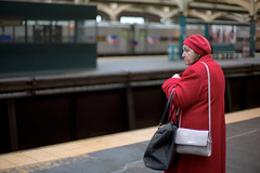 Woman in Red Coat (Matt Blaze) Tags: potd nokton 50mm11 20110205