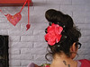 f is for fascinator... (mollykiely) Tags: hair heart hairdo f backofmyhead fascinator februarysalphabetfun