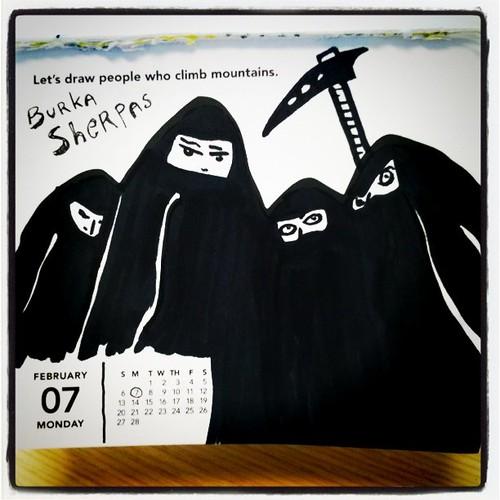 Doodle a day: Burka Sherpas