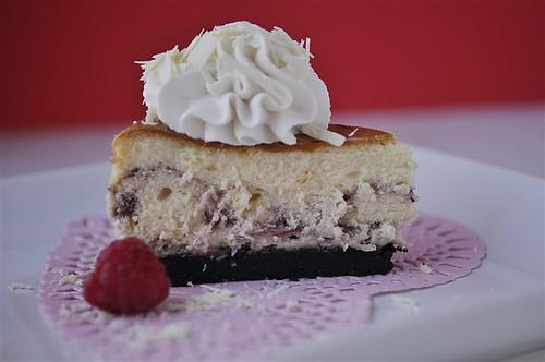 Raspberry White Chocolate Cheesecake