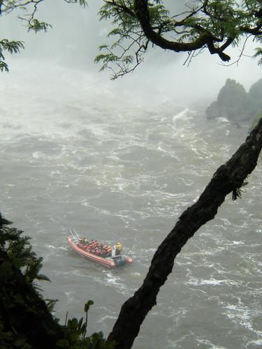 Boat at Iguazu Falls, Argentina