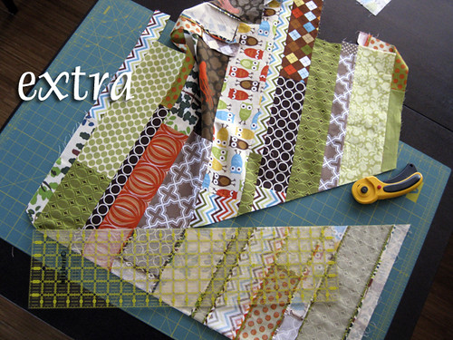 Scraps from Sixth Time's the Charm Quilt