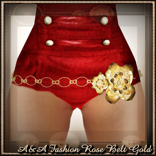 A&A Fashion Rose Belt Gold