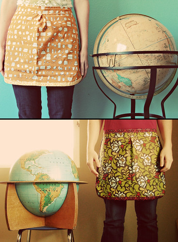 oh yes.  we did.  an apron & a globe.