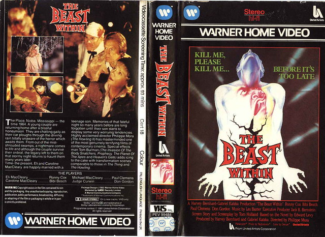 The Beast Within (VHS Box Art)