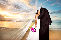 Kiss-Away Single Life in Jamaica (Extra Medium) Tags: wedding sunset adam beach sand kiss veil danielle marriage windy jamaica vail passion bouquet montegobay destinationwedding destinationweddingphotographer