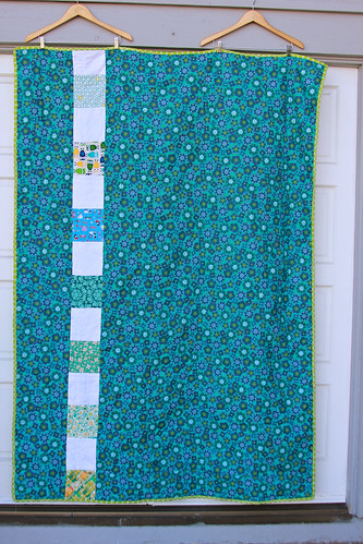 Gwen's Favorite Color Quilt - back