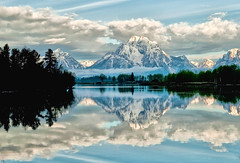 Oxbow Bend in the Summer (Jeff Clow) Tags: morning reflection nature landscape snakeriver wyoming mountmoran tetons grandtetonnationalpark oxbowbend mtmoran jacksonholewyoming nphoto nikond700