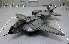 A-40 Tempest (Babalas Shipyards) Tags: scale lego aircraft military scifi spacecraft minifigure uscm a40tempest
