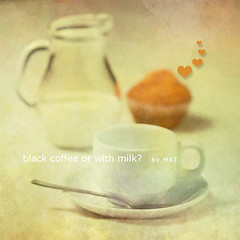 black coffee? (Mat texturonline) Tags: black texture coffee photoshop milk still mat tone pastelcolor photoshopcreativo
