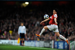 Arsenal v Barcelona (toksuede) Tags: barcelona uk england london sports sport foot football spain nikon barca fussball britain stadium soccer great emirates espana espanol deporte futbol samir arsenal futebol league champions d3 calcio gunners liga 2011 nasri
