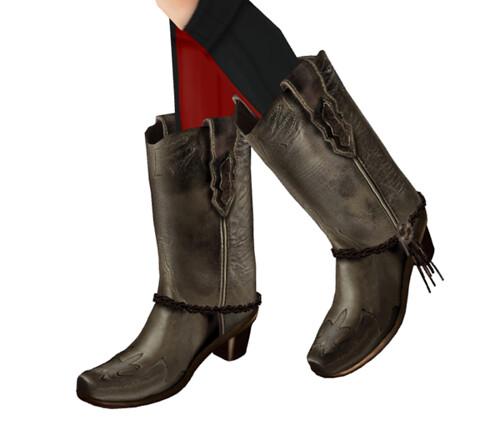 [BUKKA]Western Boots ::black:: luckybox