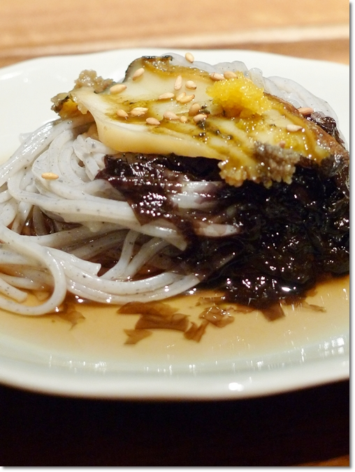 Abalone with Sesame Fine Noodles