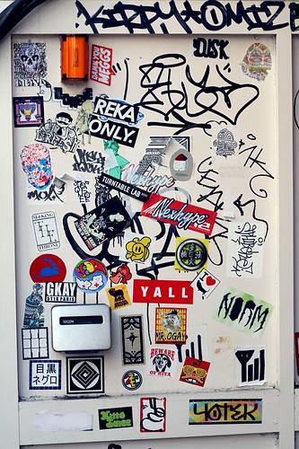 stickers, tokyo.