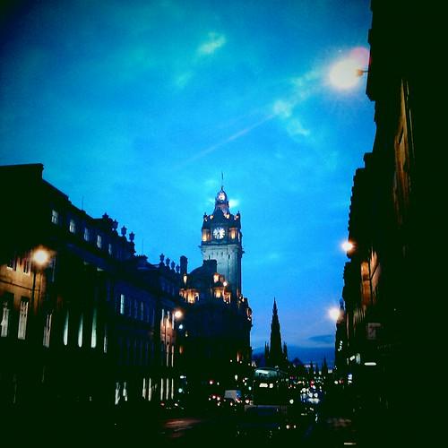 Dusk over princes street