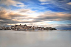 Old town of Kavala (Mavroudakis Fotis) Tags: city sea sky color beach colors beautiful field clouds contrast port photography fishing ancient nikon scenery colorful mediterranean day mare loneliness afternoon bright cloudy ominous background horizon nobody nopeople scene greece grecia serenity destination bigsky relaxation majestic seashore brilliant kavala tempesta wideopen greatplains destinations thassos landscpe caslte thasos panagia digitalcameraclub northerngreece orrizonte thassosisland paessagio d700 nikond700 panoramafotogrfico nopeoplephotography naturecanvas