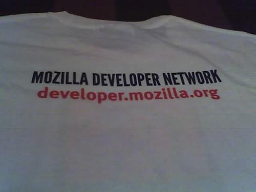 MDN t-shirt back