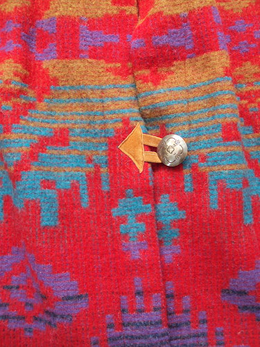 Oversized Navajo Print Coat (detail)