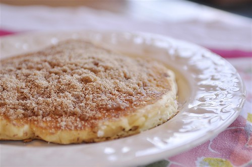 Streusel Topped Pancakes