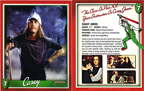 TEENAGE MUTANT NINJA TURTLES :: 25th Anniversary Collector's Edition { 4 Blu-ray Movie Disc set } .. // Character Card #7; Casey (( 2009 ))