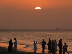 A Day At The Beach - Omani Style (Alan1954) Tags: sunset sea holiday beach beautiful asia muslim arab oman moslem 2011
