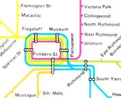 CBD rail map circa 1981