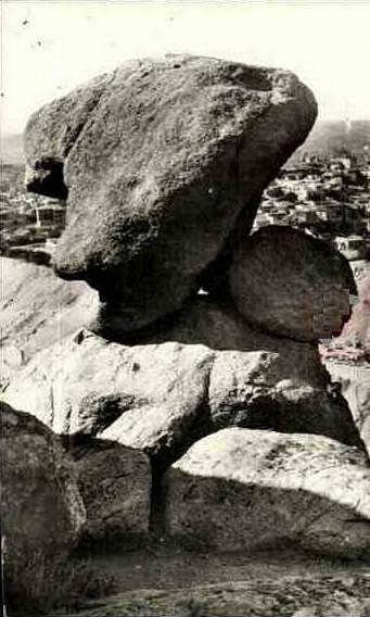 Piedra del Rey Moro a comienzos del siglo XX