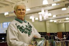 Librarian Marjorie Moistner