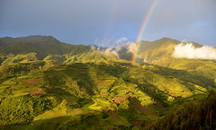 Arriving at the Pot of Gold (MarcLange) Tags: travel panorama peru southamerica nature forest rainbow nikon naturallight wideangle panoramic landschaft lanscape paesaggio landskap mountaind peruadventure landslag travelperu
