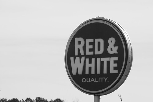 Red & White in Black & White