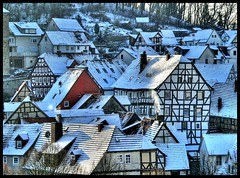 Winterliche Gudensberger Altstadt. by Haldorfer