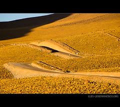 Hills of gold (josefrancisco.salgado) Tags: chile road golden nikon desert carretera hill desierto nikkor cl loma dorado sanpedrodeatacama desiertodeatacama atacamadesert repúblicadechile 70300mmf4556gvr republicofchile d3s iiregióndeantofagasta provinciadeelloa osftoaosroad