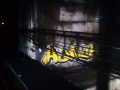 Hunch (TheDude!) Tags: bridge toronto canada subway graffiti ttc smokey graff bomb bombing mellow hunch