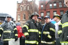 Firefighters at Rally with Wisconsin Workers at State House, 2/25/11