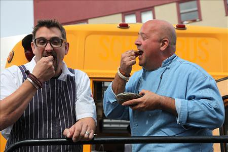 Andrew Zimmern and Offal Chris