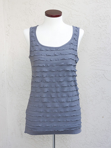 Ann Taylor Loft Tiered Shell Grey Dress Form 600