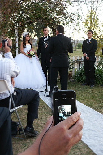 CAROLS SEAT AT THE WEDDING