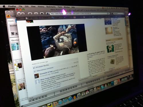 Facebook videos from Libya