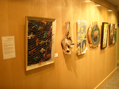 pictures from an exhibition: Roots at the Scotia Creek Gallery in Whistler