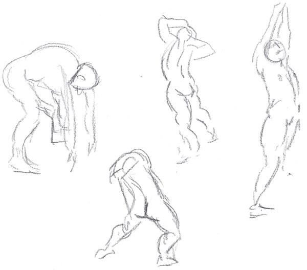 Gesture Drawing - Squat and Stretch 02