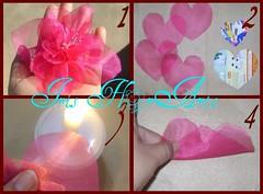 Passo a passo da flor de organza (Iris Florarte) Tags: handmade artesanato artesanal rosa fuxico coração pap tecido acessórios feitoamão flordecetim rosadecetim passoapassodaflordeorganza