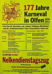 177 Jahre Karneval in Olfen (Plakat der KG Kitt)