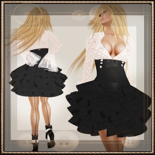A&A Fashion Waleska Dress Black White