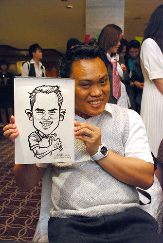 Caricature live sketching for Swire Pacific Offshore & The China Navigation Company Pte Ltd Annual D&D - 4
