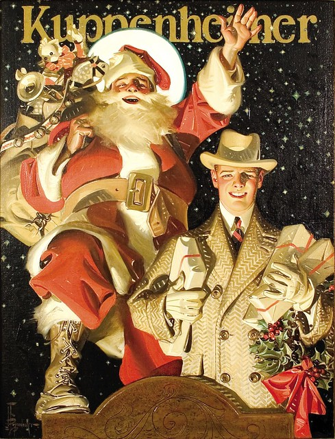 Merry Christmas from Kuppenheimer's, c.1924 J.C. Leyendecker por Tropic~7