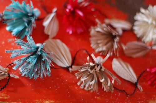 Paper flower garland.
