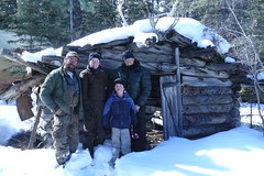 Dickson family at  old Dickson cabin