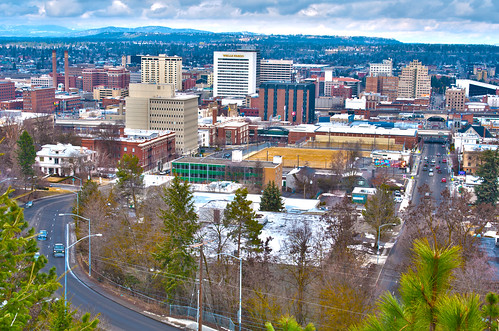 spokane wa skyline by DigiDreamGrafix.com