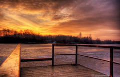 if i lean on you..... (gobayode photography...times) Tags: landscape manchester wintersunset lakeside burningsky chorlton fishingpier frozenlake manchesteruk chorltonwaterpark naturecolours hotrail chorltonmanchester burningrail hotpierrail elementsofwinter